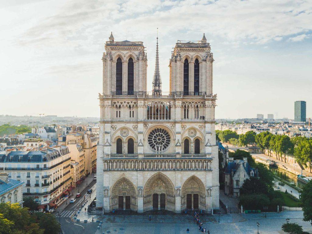 Photo aérienne drone Notre Dame de Paris