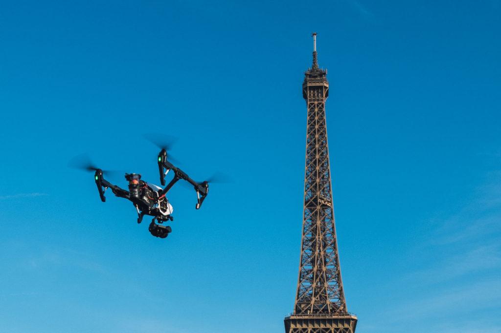 Photo aérienne drone Tour Eiffel
